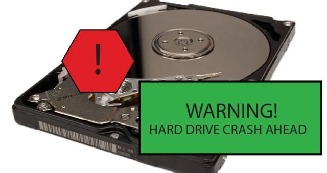 data recovery hard drive crash ahead