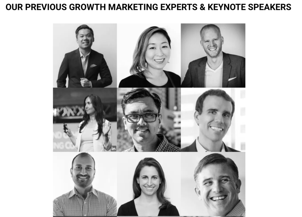 Global Growth Marketing Conference Speakers