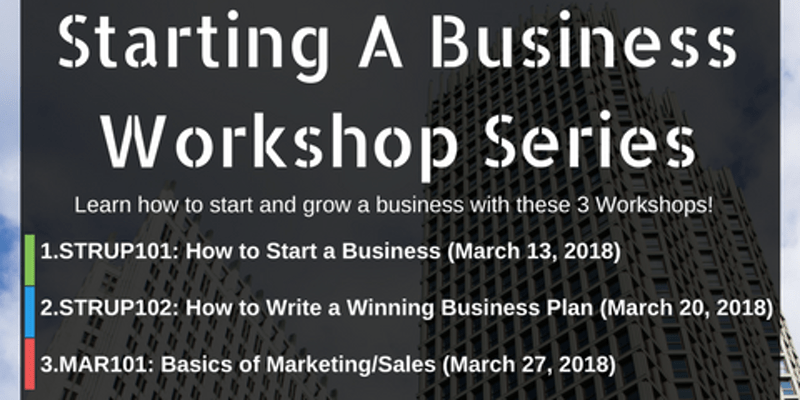 """""""Starting a Business"""" Workshop Series"""