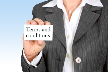 Terms and conditions in e-commerce