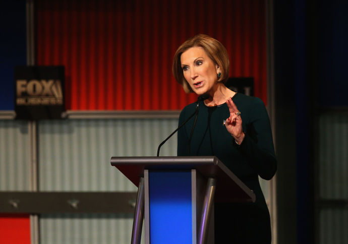 Carly Fiorina edged up in polls after a successful performance in the second Republican Presidential debate, but the bump proved to be short-lived.