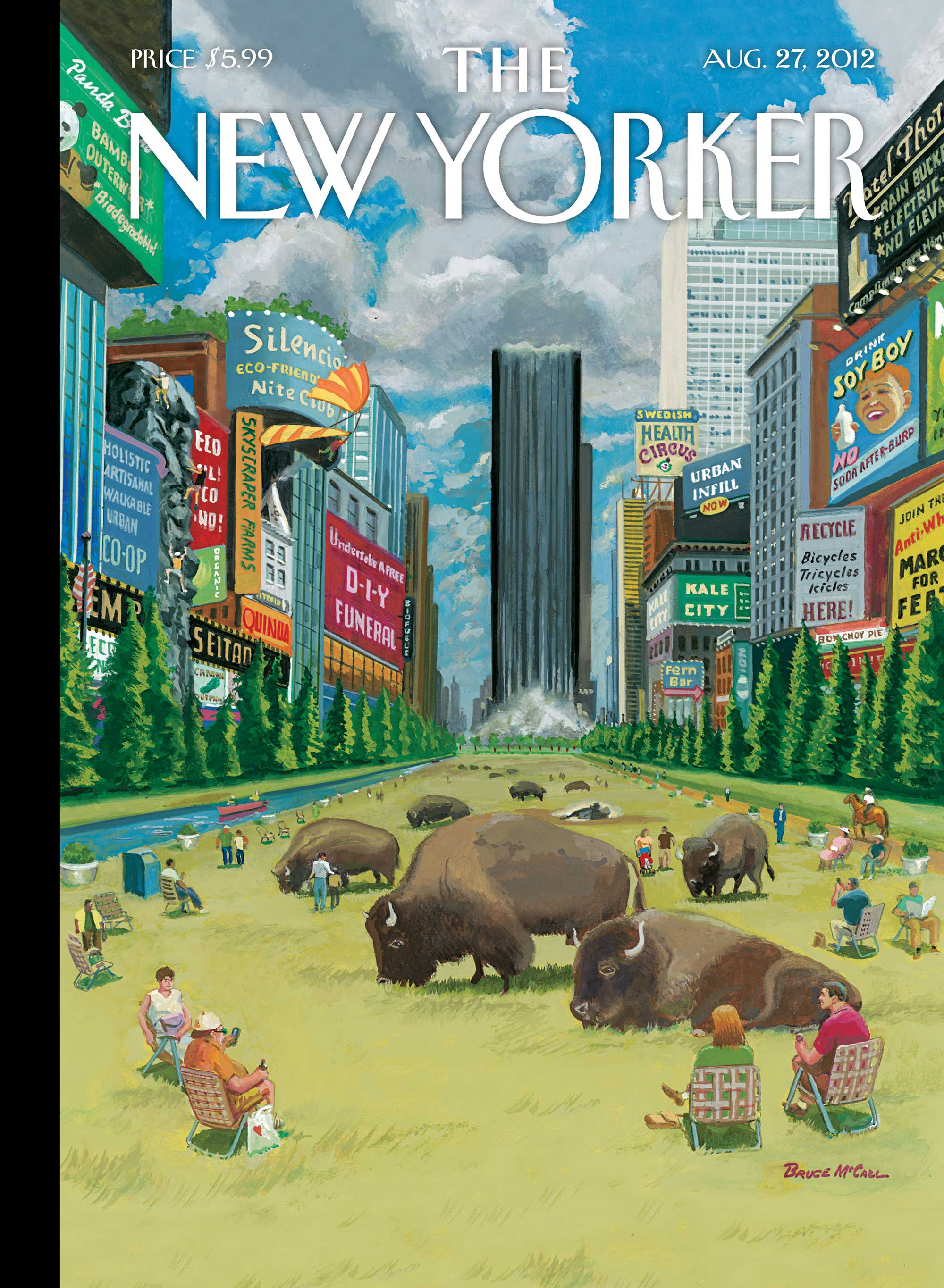 Cover Story Glass Houses by Bruce McCall  The New Yorker