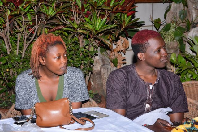 Abigail Arunga and Magunga Williams at the 2016 Babishai Poetry Festival, in Ntinda, Uganda. Image from http://www.newyorker.com/books/page-turner/bringing-african-books-back-home