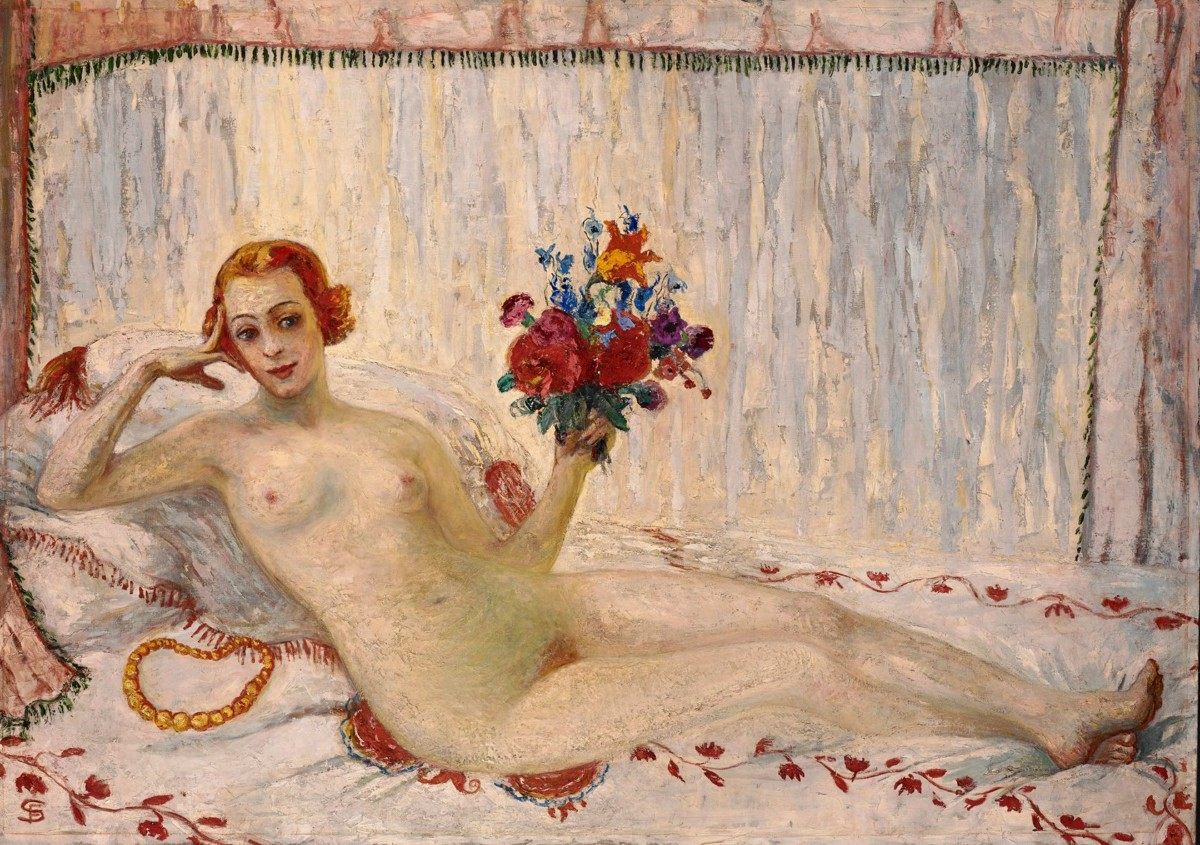 "Doyenne of liberty: Stettheimer's ""A Model (Nude Self-Portrait),"" from 1915."