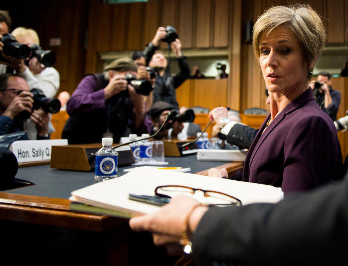 The former acting Attorney General Sally Yates efficiently cut through the dissembling and double-talk during the hearing on Michael Flynn's contact with the Russians.