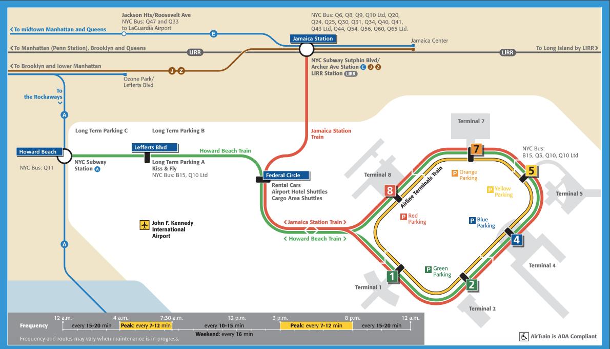 Nyc Subway Map Airtrain.Jfk Airtrain Map New Yorker Tips