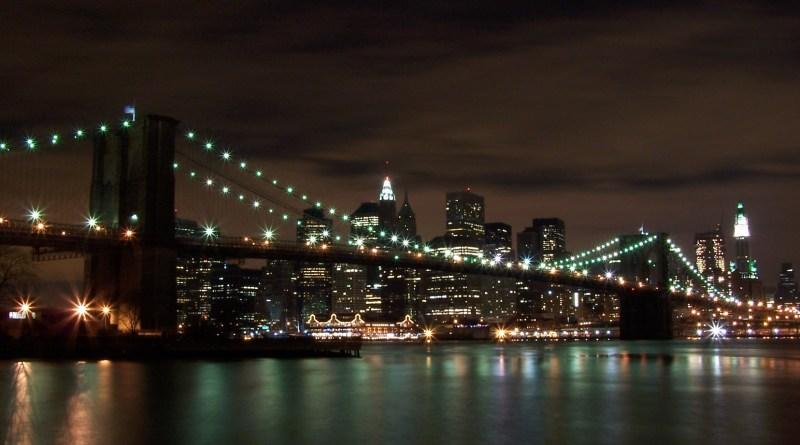 Brooklyn Bridge NYC by night
