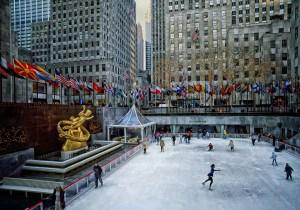 Ice Skating Rink at Rockefeller Center NYC - rockefeller plaza
