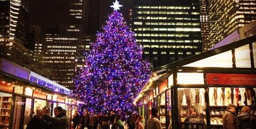 winter village bryant park new york city