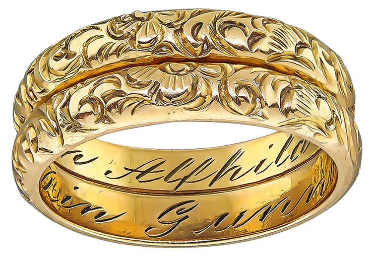 Antique Gold Wedding Band
