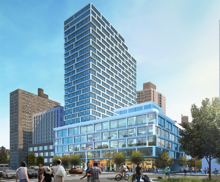 Essex Crossing Site 4, 180 Broome St. Rendering by Handel Architects.
