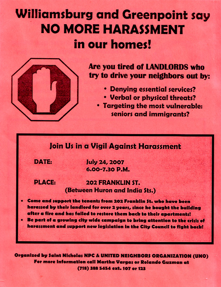 Vigil Against Harassment