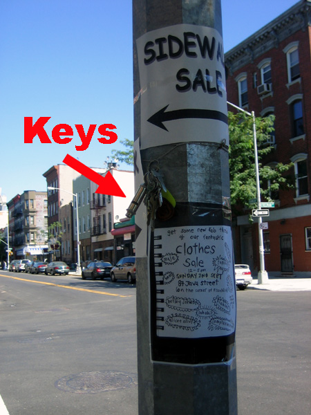 Keys at Freeman and Franklin Street
