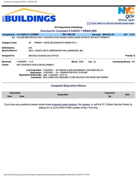 131 N 11 Street Complaint