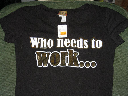 Who needs to work
