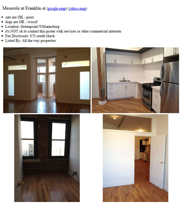 Craiglist Apartments Nyc: From The New York Shitty Inbox: Apartments For Rent At 239