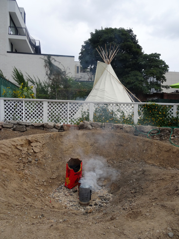 bbq pit and teepee