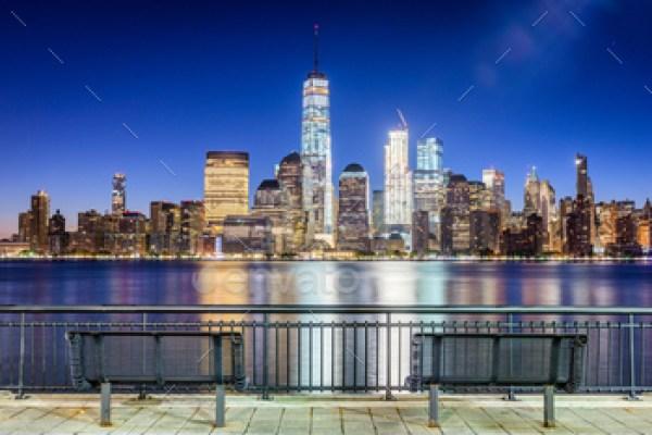 New York City on the Hudson River