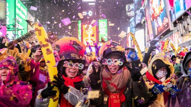 new year - drone - new york
