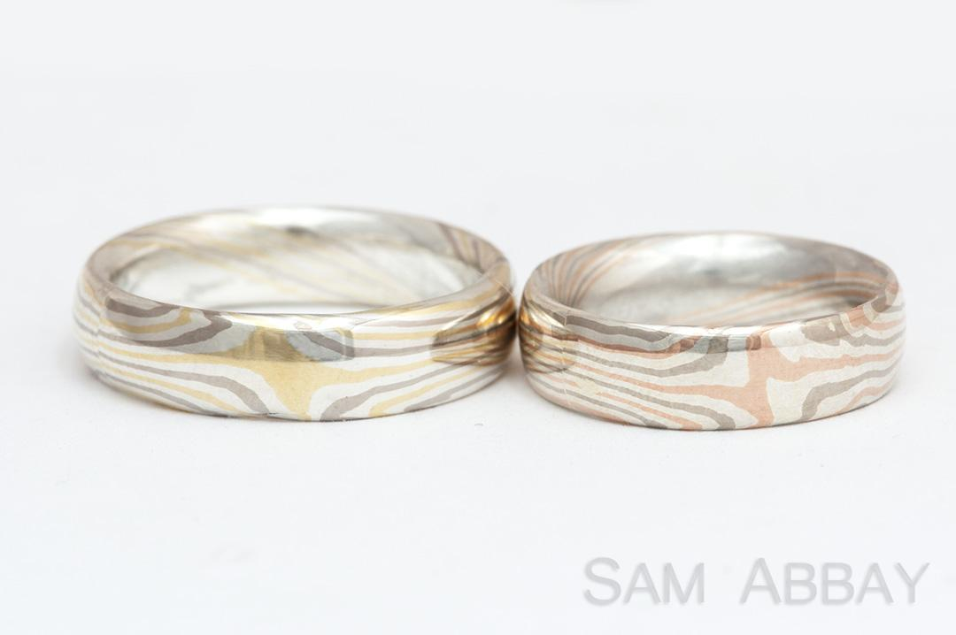 Mokume Gane New York Wedding Ring