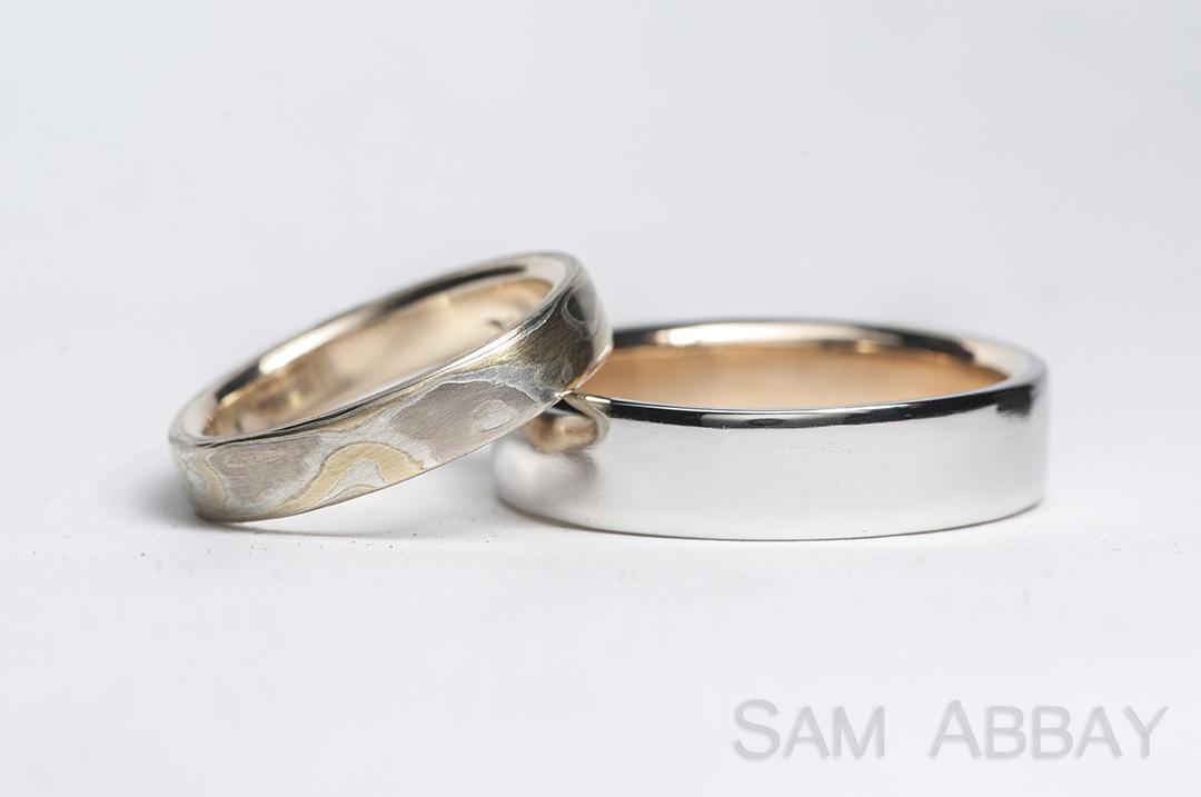 Rings with Liners  New York Wedding Ring