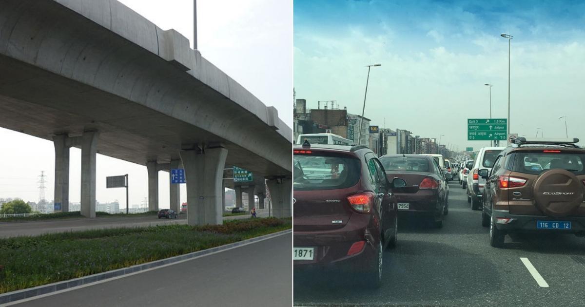 Gurgaon and Delhi Via Signal free Highway