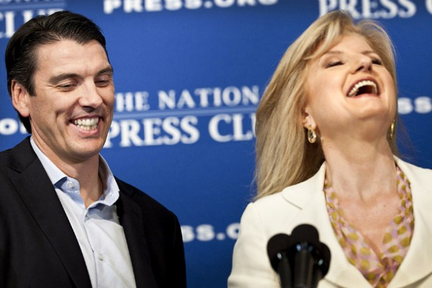 Le duo infernal Tim Armstrong / Arianna Huffington