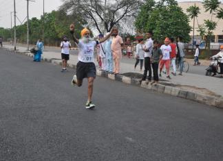 A veteran finishing the Champions Build Up Run - Newzito