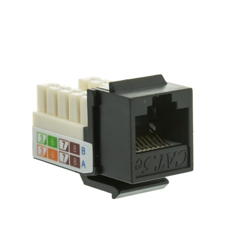 small resolution of cablewholesale 310 120bk rj45 female to 110 punch down cat5e keystone jack black