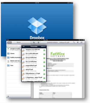 Dropbox for iPad screenshot