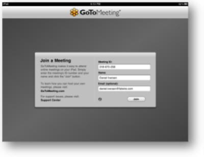 GoTo Meeting for iPad screenshot