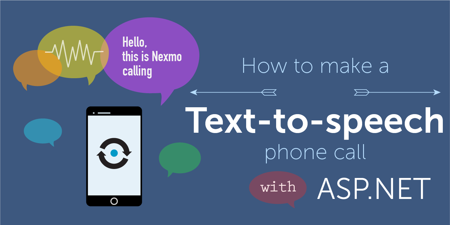 How to Make a TexttoSpeech Phone Call in ASPNET  Nexmo
