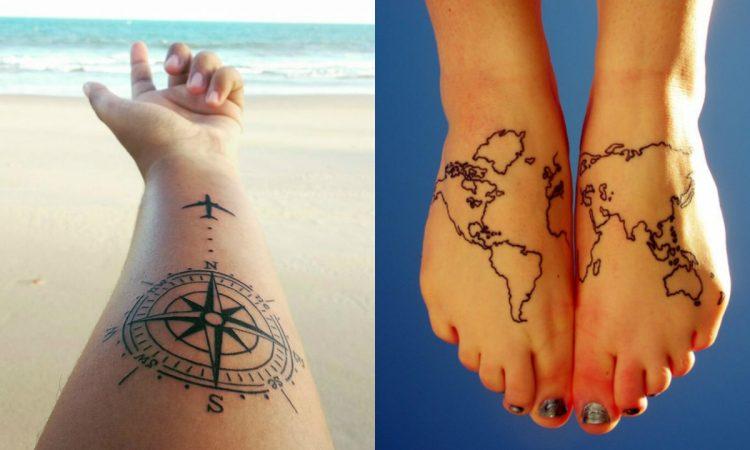 Estos Tatuajes Son Ideales Para Los Amantes De Viajar Por El Mundo