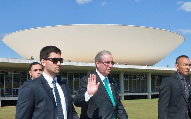 Eduardo Cunha no Congresso, em Brasília