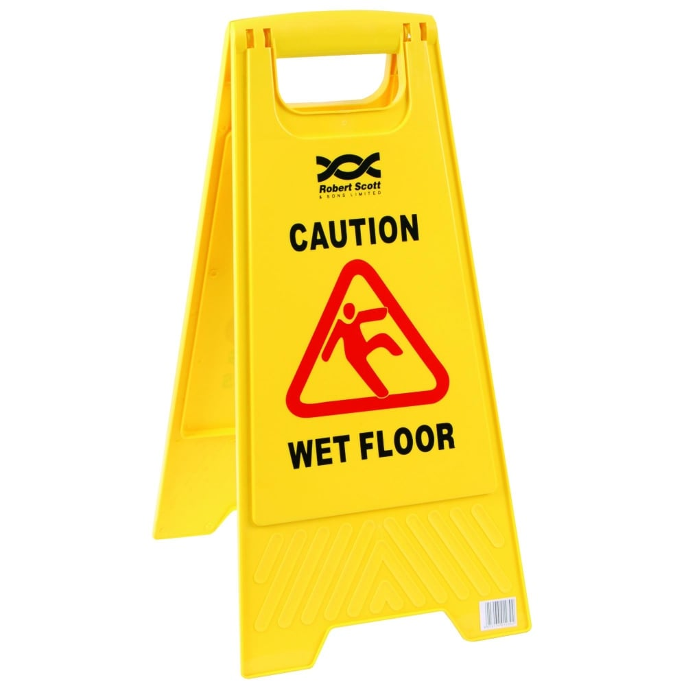Caution Wet Floor Sign  Yellow Wet Floor Sign  Nexon Hygiene