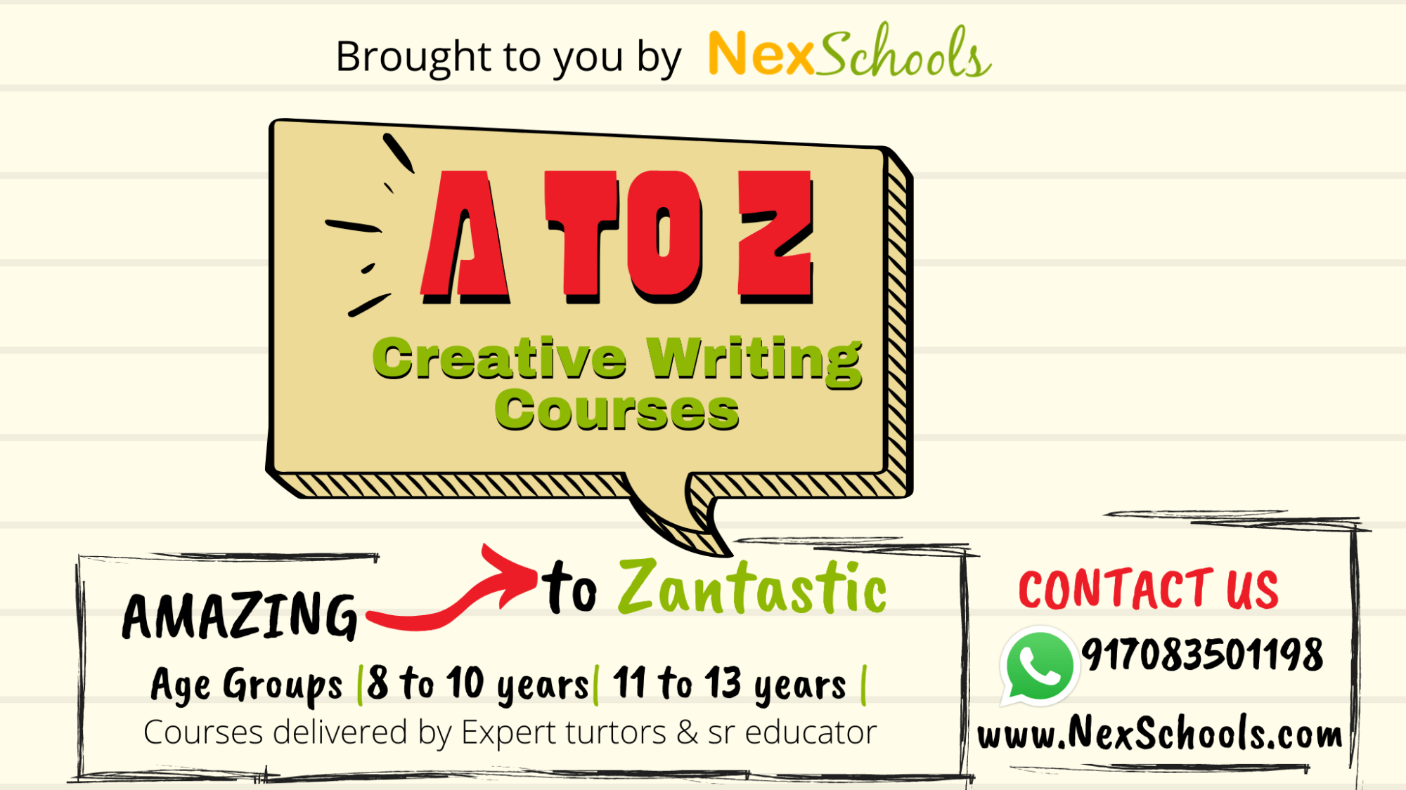 hight resolution of NexSchools Creative Writing Course for Children for Primary to Middle School