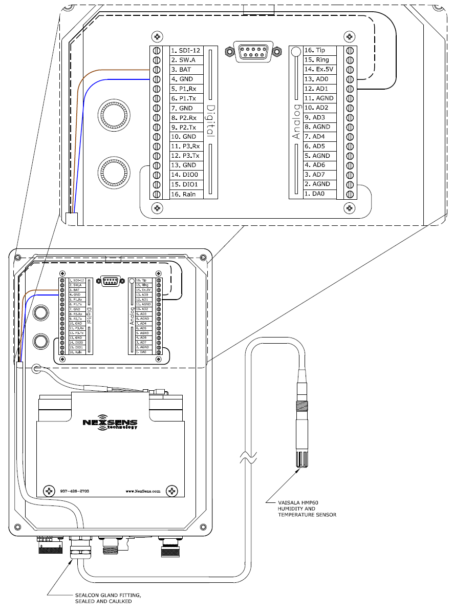 medium resolution of figure 1 wiring a vaisala hmp60 into an isic data logger