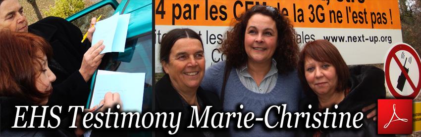EHS_Marie_Christine_Testimony_I_m_no_longe_electrosensitive