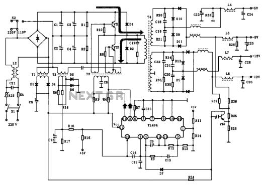 Fine Atx 450w Smps Circuit Diagram Adornment - Electrical Chart ...