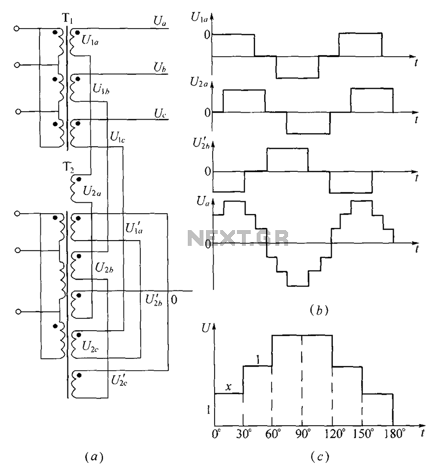 medium resolution of three phase step wave inverter output transformer winding connection and the output voltage waveform