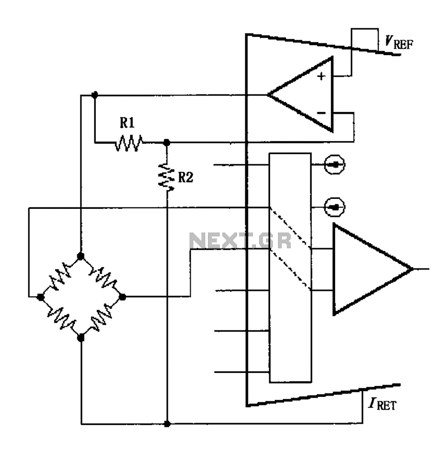 hight resolution of xtr108 vref driven by the excitation circuit diagram of the bridge
