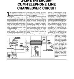 2 line intercom cum telephone line changeover circuit  [ 1236 x 1600 Pixel ]