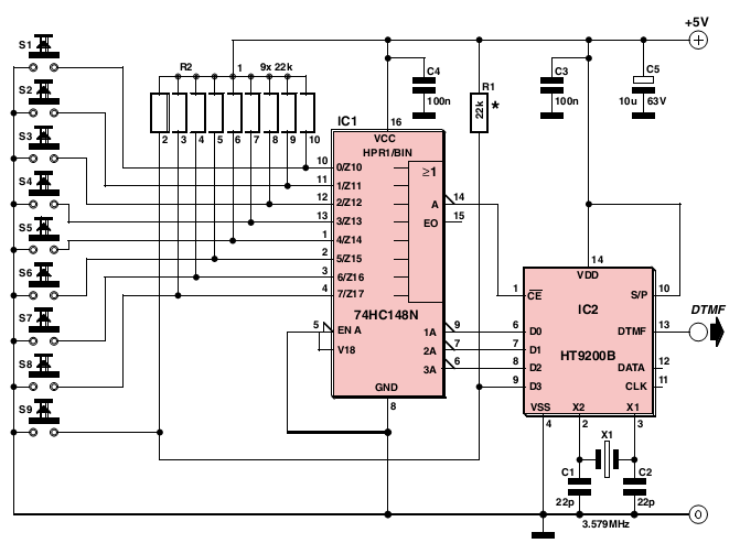 dtmf decoder ic mt8870 pin diagram 2000 cadillac deville alternator wiring circuit page 2 telephone circuits next gr 8 channel link encoder