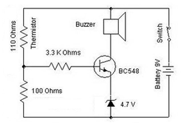BC548 Heat Sensor Diagram Circuit under Repository