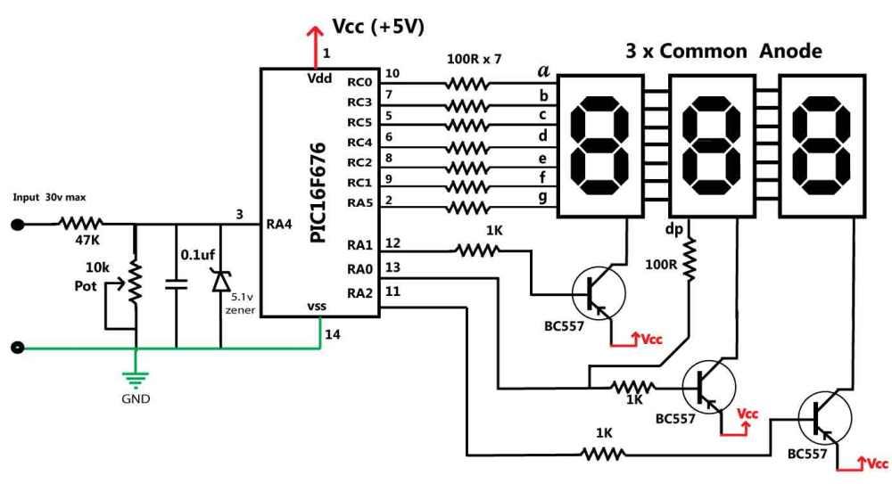 medium resolution of voltage meter wiring diagram wiring schematic diagram 130 also digital volt meter wiring likewise a 4 wire digital voltmeter