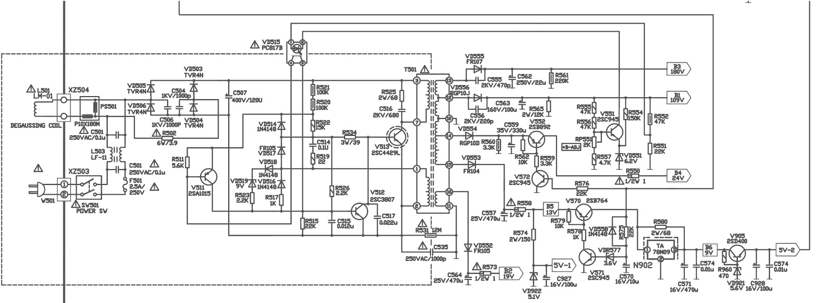 hight resolution of 32xt 32quot lcd tv main power regulator smps schematic diagram lcd tv diagram how works lcd