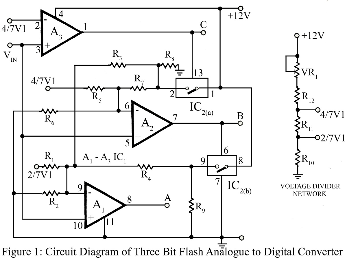 analog to digital converter circuit diagram