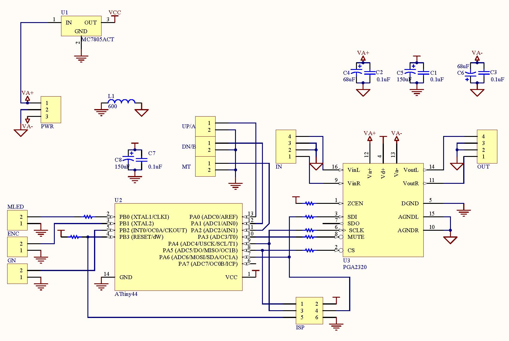 volume control wiring diagram peptide structure simple gt circuits minivol pga2320 l21252 next gr
