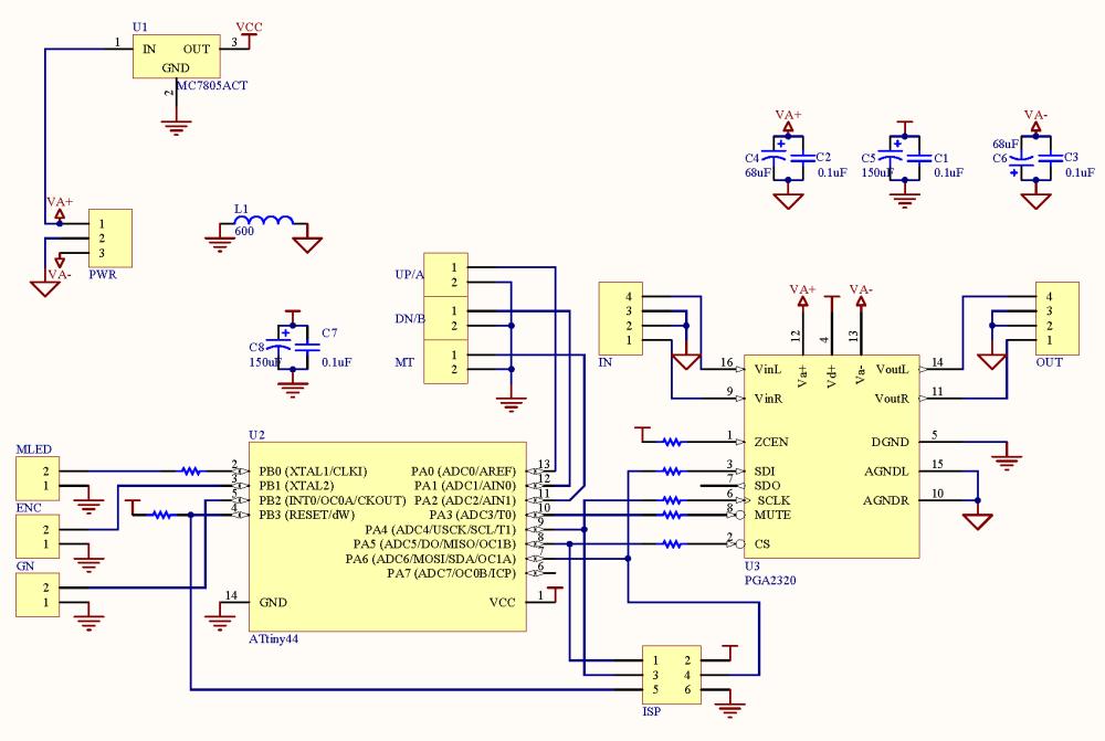 medium resolution of minivol pga2320 volume control