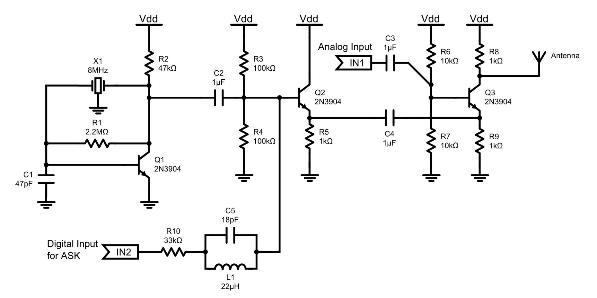 hight resolution of 8mhz am radio transmitter
